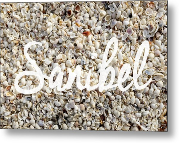 Sanibel Island Seashells Metal Print