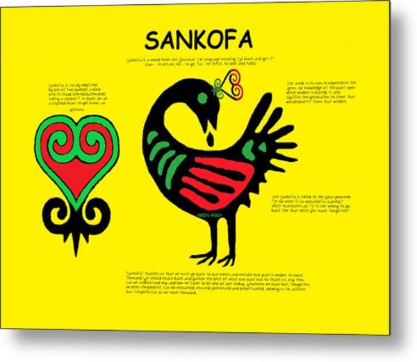 Sankofa Knowledge Metal Print