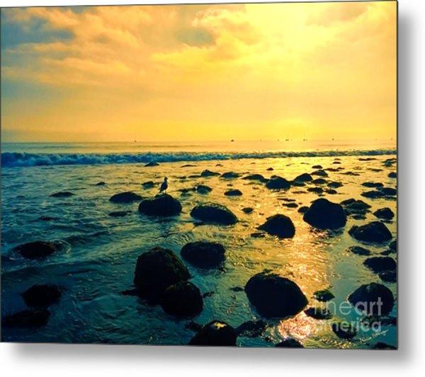 Santa Barbara California Ocean Sunset Metal Print