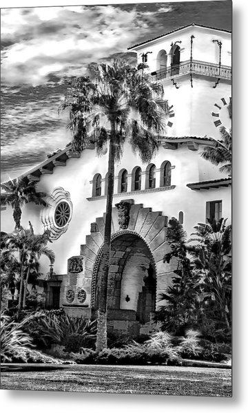 Santa Barbara City Hall Triptych_part2 Metal Print