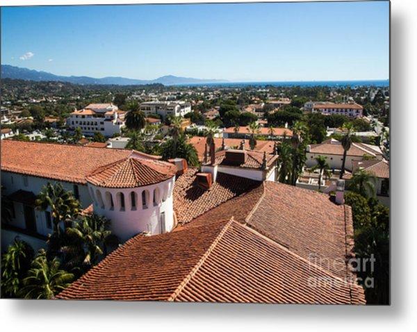 Santa Barbara From Above Metal Print