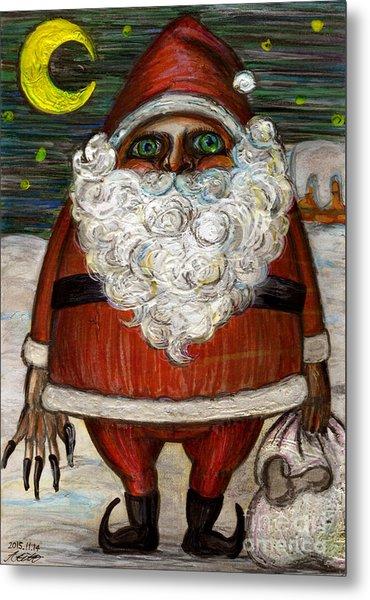 Santa Claus By Akiko Metal Print