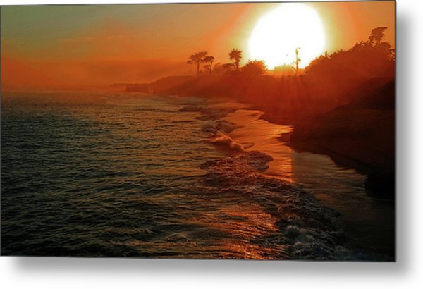 Santa Cruz Sunset Metal Print