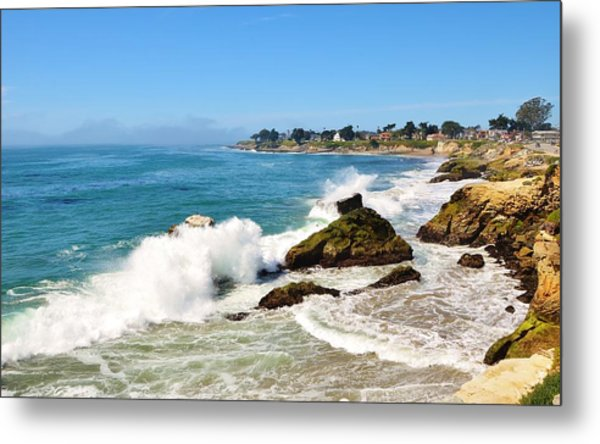 Santa Cruz Wave Spray Metal Print