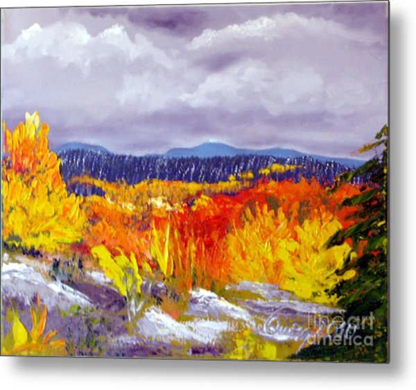 Santa Fe Aspens Series 1 Of 8 Metal Print