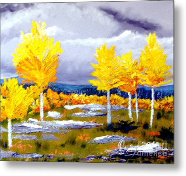 Santa Fe Aspens Series 2 Of 8 Metal Print