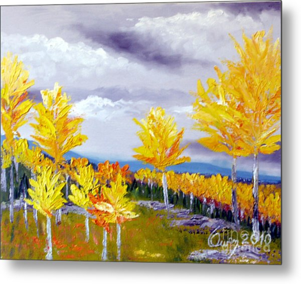 Santa Fe Aspens Series 3 Of 8 Metal Print