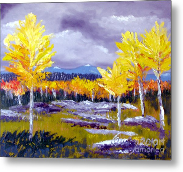 Santa Fe Aspens Series 4 Of 8 Metal Print
