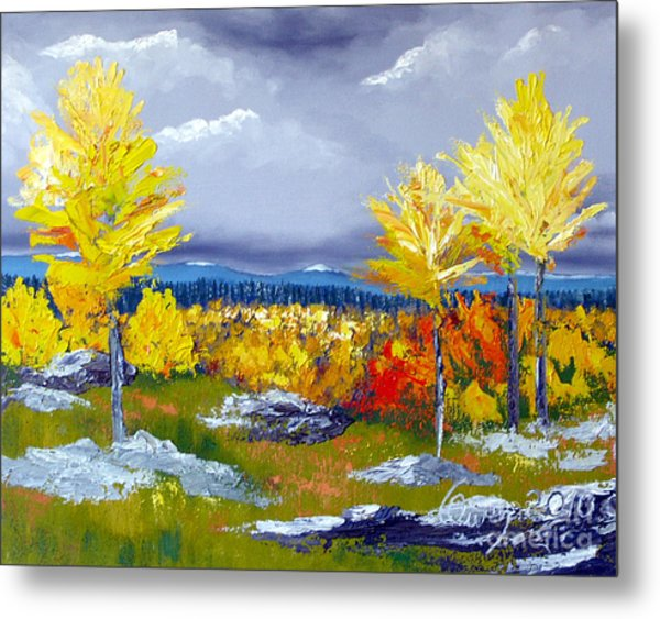 Santa Fe Aspens Series 5 Of 8 Metal Print