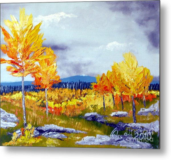 Santa Fe Aspens Series 6 Of 8 Metal Print