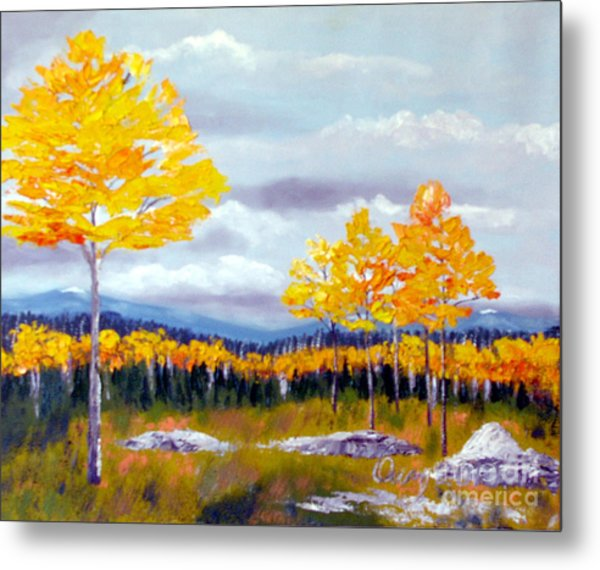 Santa Fe Aspens Series 8 Of 8 Metal Print