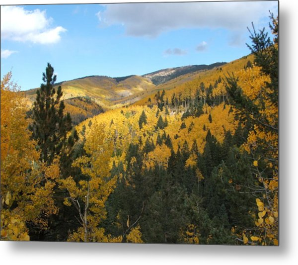 Santa Fe Autumn View Metal Print