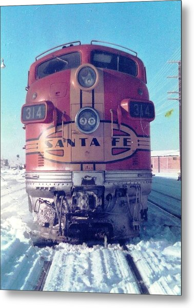 Santa Fe Locomotive At Gallup New Mexico Metal Print