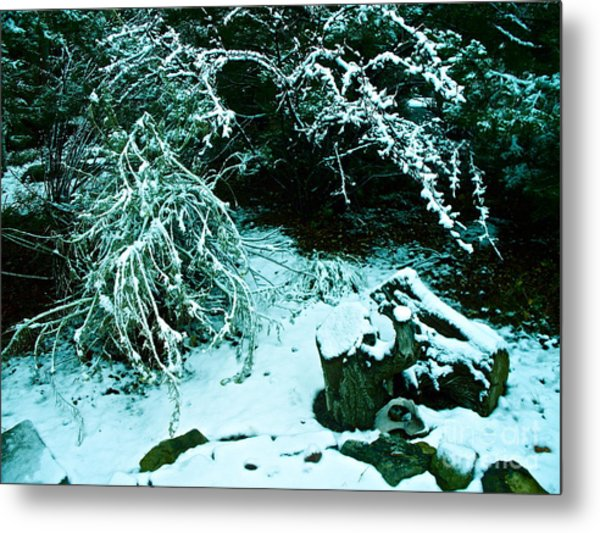 Santa Fe Snow Metal Print by Chuck Taylor