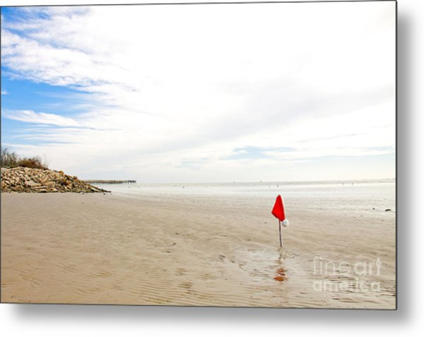 Metal Print featuring the photograph Santa Is Missing by Sandy Adams
