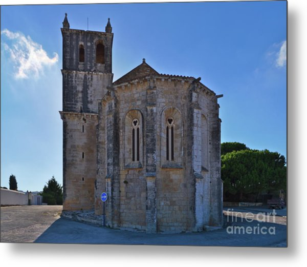 Santa Maria Do Carmo Church In Lourinha. Portugal Metal Print