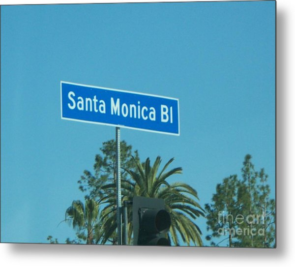 Santa Monica Metal Print by Sacred  Muse