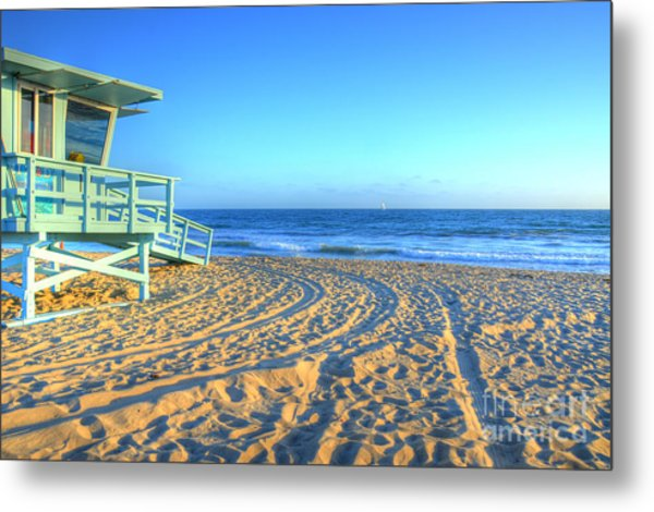 Santa Monica Lifeguard Metal Print