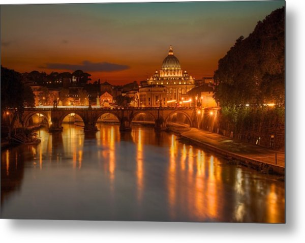Sant'angelo Bridge Metal Print