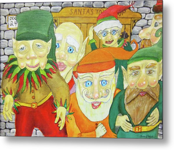 Santas Elves Metal Print by Gordon Wendling
