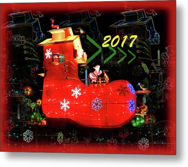Santa's Magic Stocking Metal Print