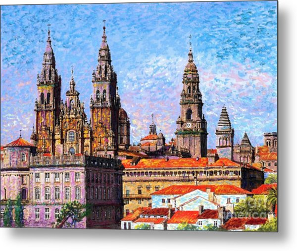 Santiago De Compostela, Cathedral, Spain Metal Print