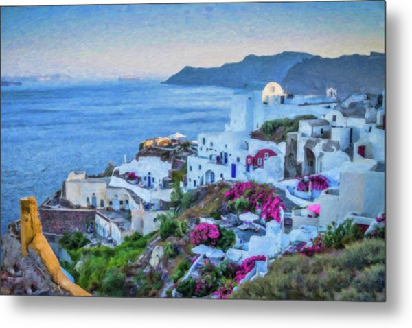 Santorini Greece Dwp416136  Metal Print