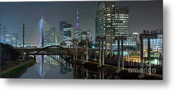 Sao Paulo Bridges - 3 Generations Together Metal Print