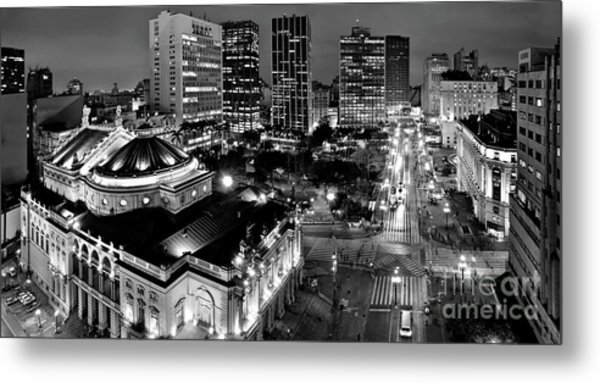 Sao Paulo Downtown - Viaduto Do Cha And Around Metal Print