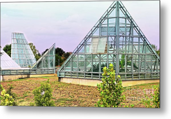 Saolariums At San Antonio Botanical Gardens Metal Print