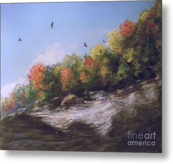 Soaring Over The North Rim, Autumn Metal Print