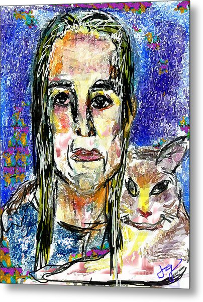 Sarah And Shai Metal Print