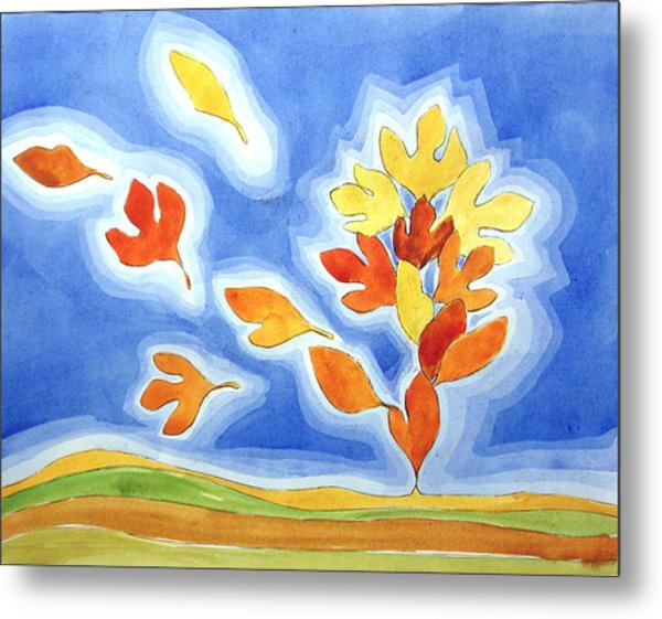 Sassafras Fall Metal Print