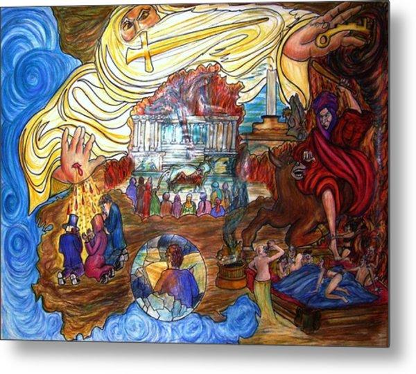Satans Throne Metal Print by Richard  Hubal