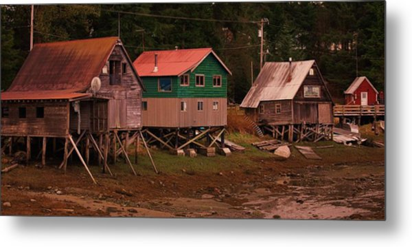 Satellite Village Metal Print