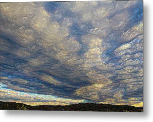Satin Sky No. 1 Metal Print