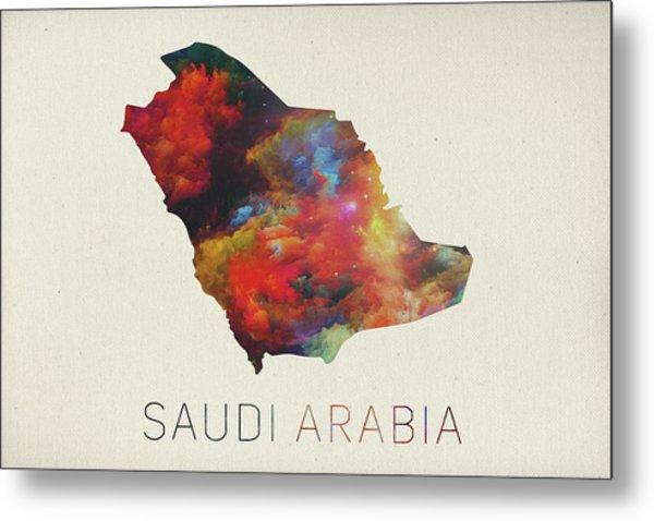 Saudi Arabia Watercolor Map Metal Print