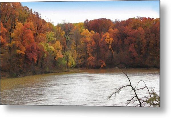 Sauk Lake Autumn Metal Print