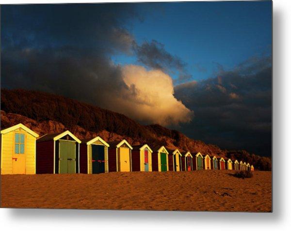 Saunton Sands Beach Huts, Barnstable, Devon Metal Print