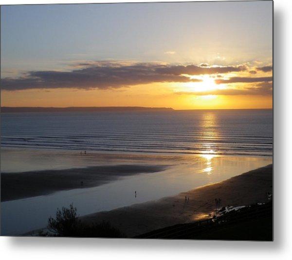 Saunton Sands Sunset Metal Print