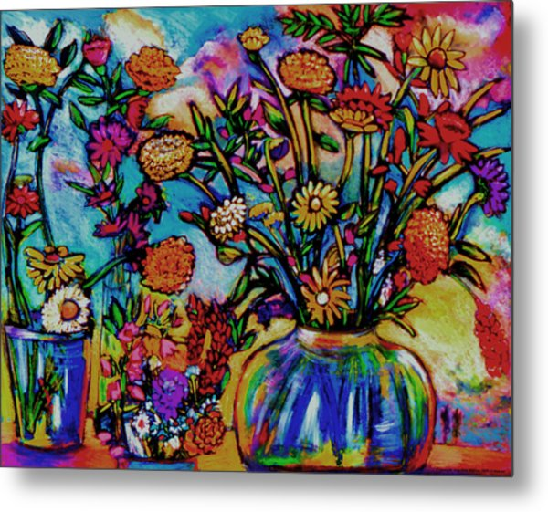 Sauvie Island Flowers Metal Print by Angelina Marino