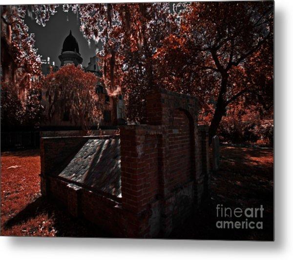Savanna Georia Colonial Park Cemetery Color Infrared 500 Metal Print by Rolf Bertram