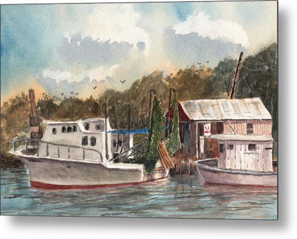 Savannah Bait - Coastal Watercolor Metal Print