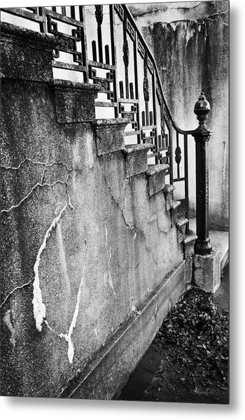 Savannah Stairway Black And White Metal Print