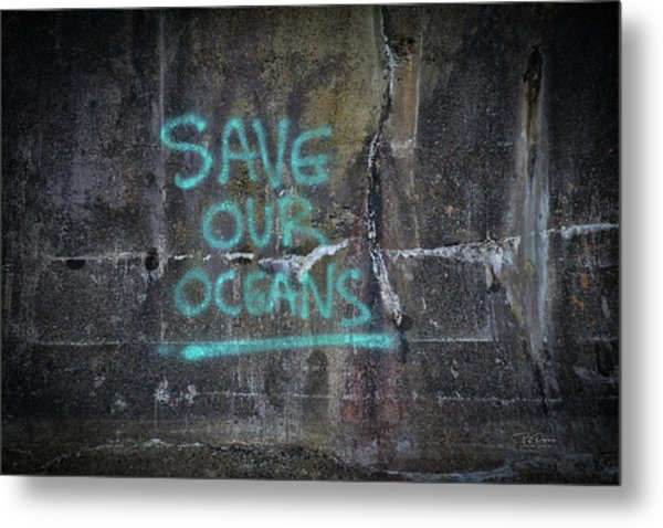 Save Our Oceans Metal Print