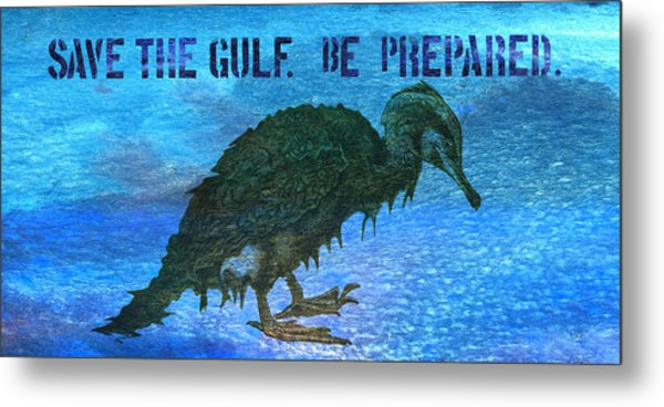 Save The Gulf America 3 Metal Print