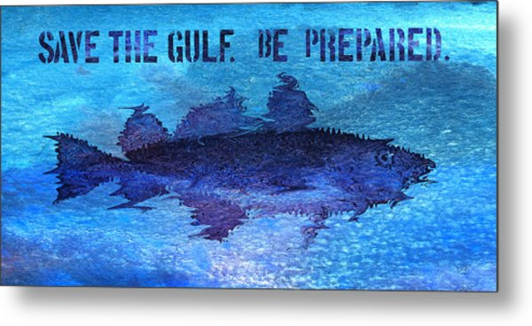 Save The Gulf America Metal Print