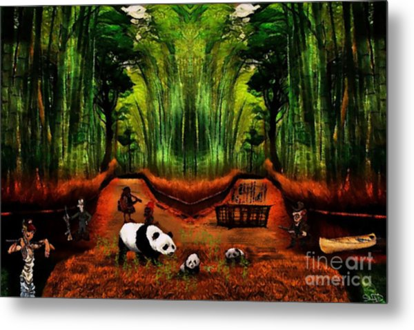 Save The Panda Metal Print
