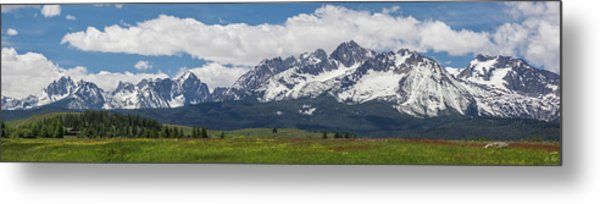 Sawtooth Range Panorama 2 Metal Print