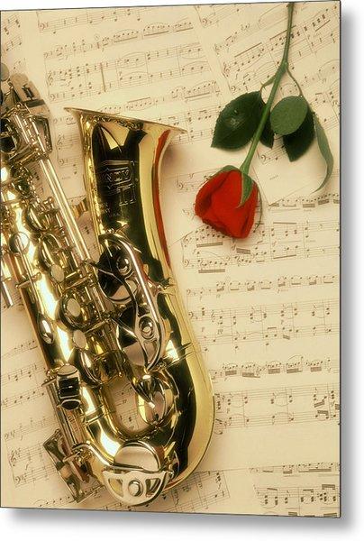 Sax Romance Metal Print